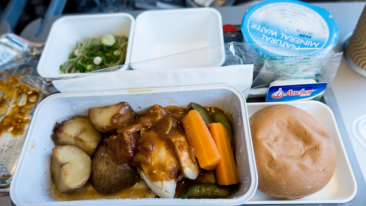 お楽しみ、キャセイパシフィック機内食