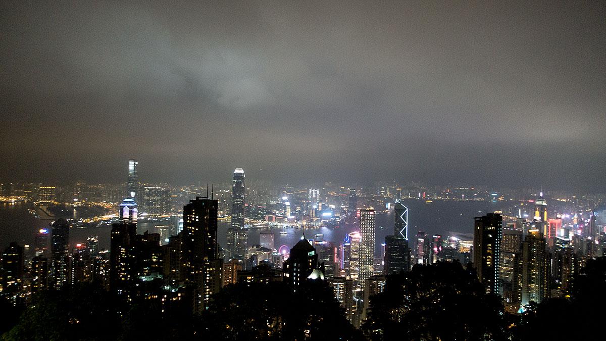 香港お決まりの夜景