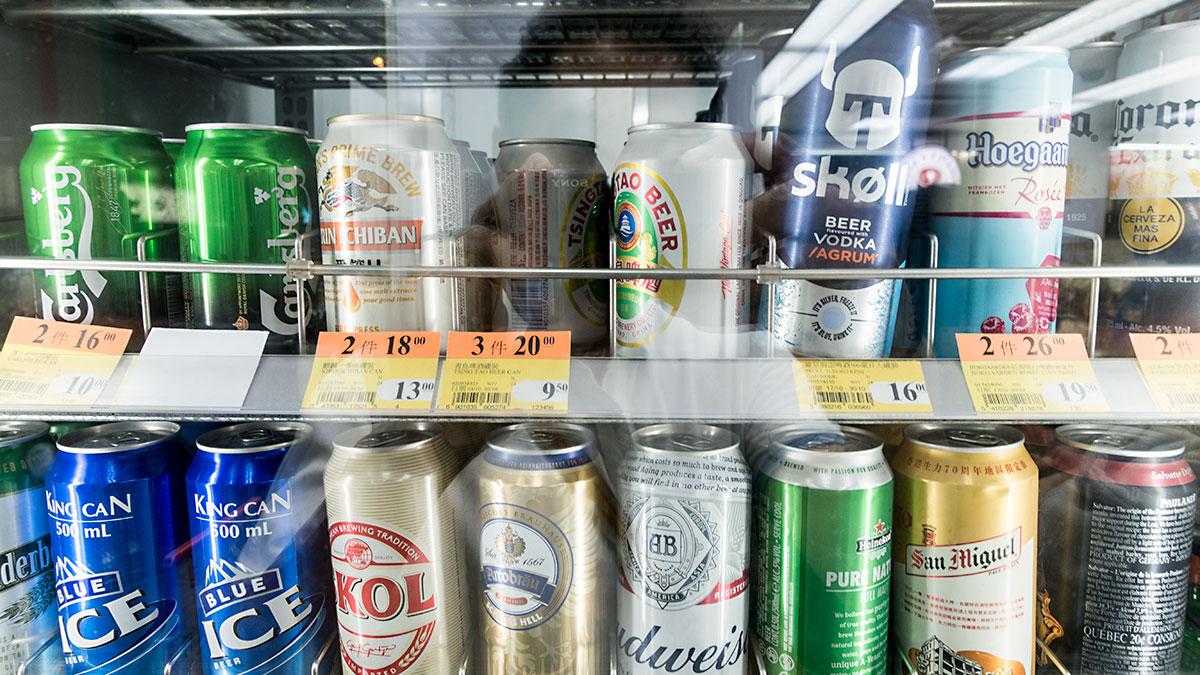 香港のコンビニのビール