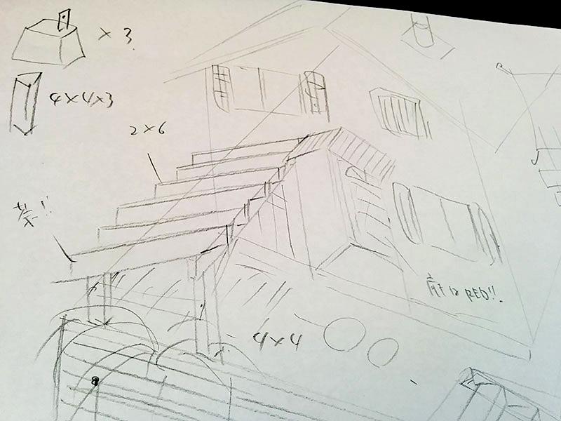 オンデュリン オンデュビラを使って屋根付き自転車置き場DIY
