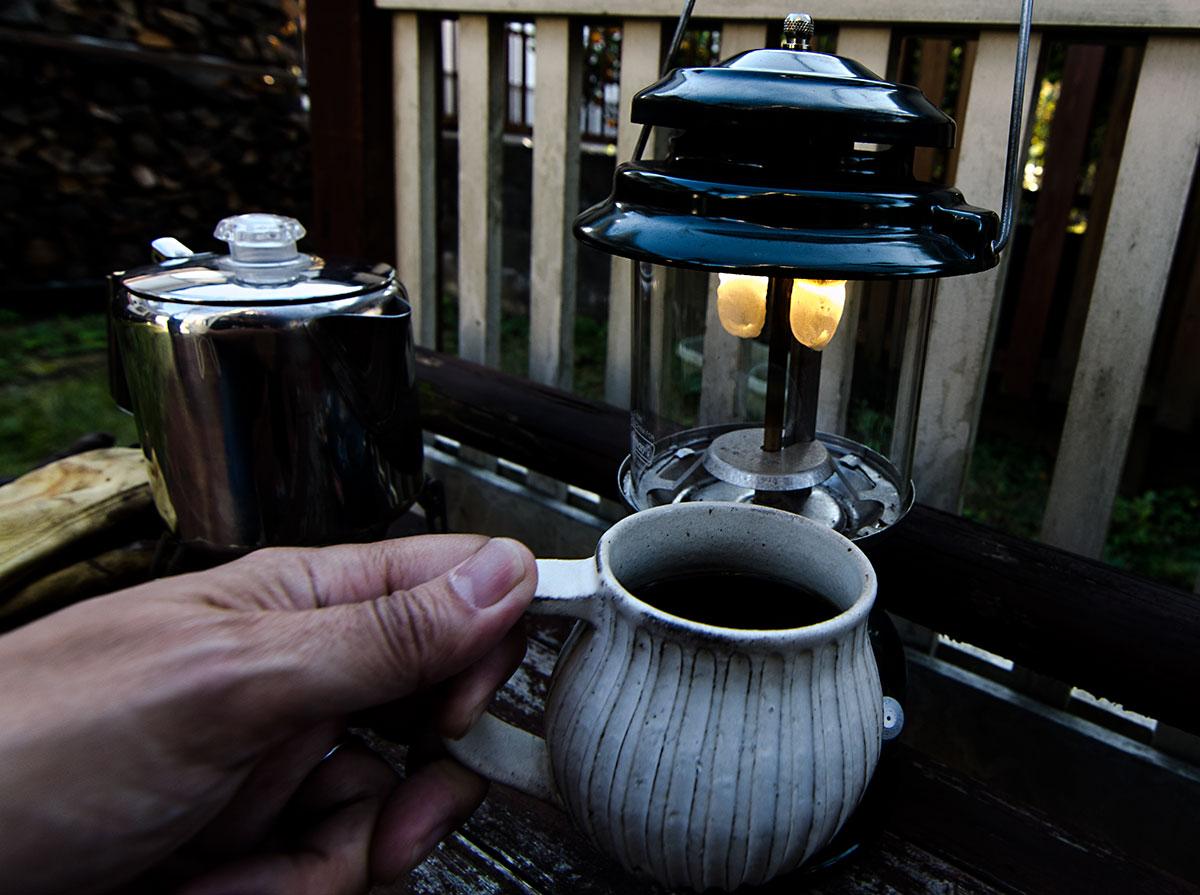 外で飲むコーヒーは最高!