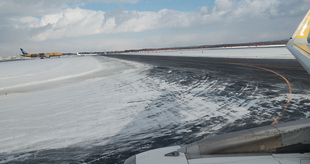 冬の新千歳空港